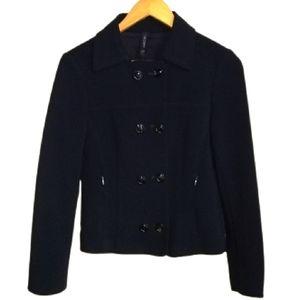 MARC CAIN Black Virgin Wool Double Breasted Blazer